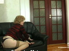Kinky aged chick taking advantage on drunk worker fucking him like slut
